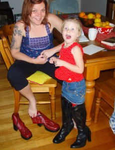 She always liked my big boots